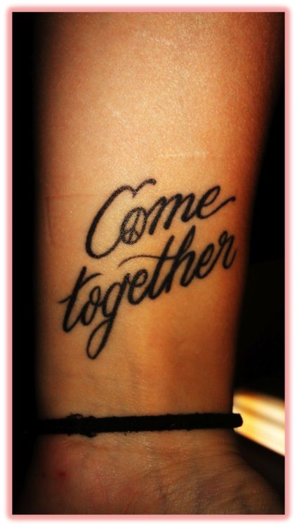 Come together Beatles tattoo