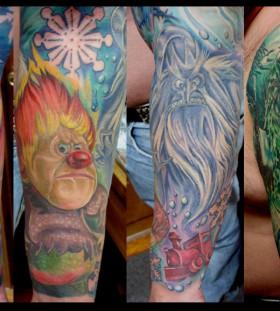 Comics style winter tattoo