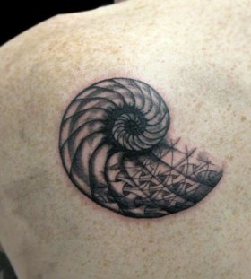 Cool black snail tattoo