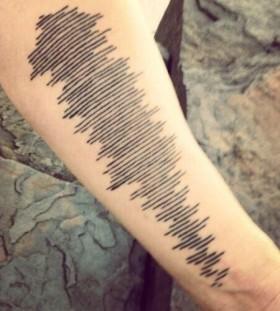 Cool black wave tattoo