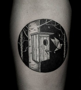 Cool looking black Ilya Brezinski tattoo