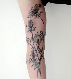 Cool looking black plants Victor J Webster tattoo