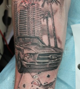Cool looking car tattoo