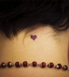Cool red heart's heart tattoo