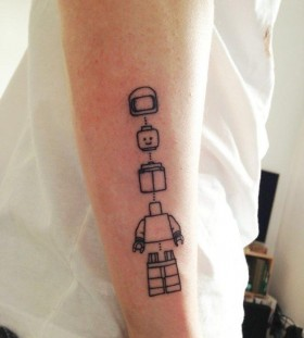 Cool robot's lines tattoo