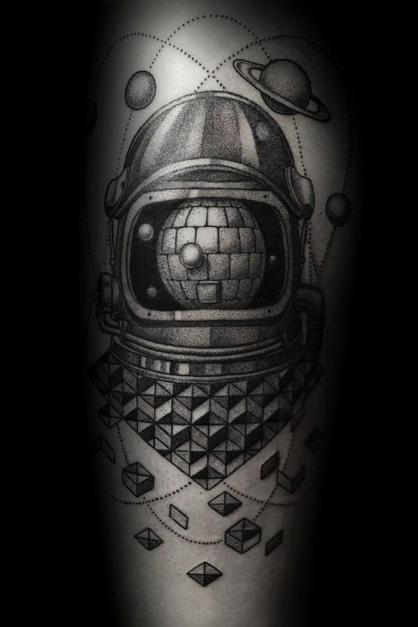 Cosmic style Ilya Brezinski tattoo