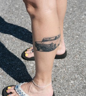 Crazy leg's car tattoo