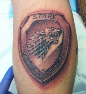 Crazy looking game of thrones tattoo
