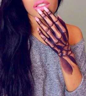 Creep girl halloween tattoo