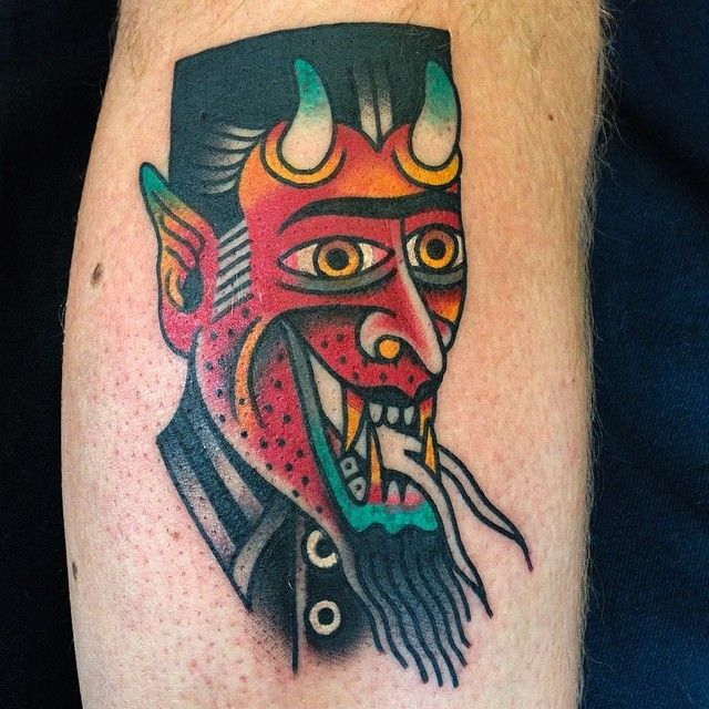 Cruel devil tattoo by Austin Maples