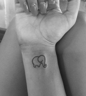Cute lovely elephant tattoo
