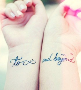 Cute quote and girls tattoos