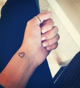 Cute small heart tattoo