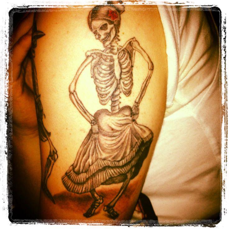 Dancing skull dancing tattoo