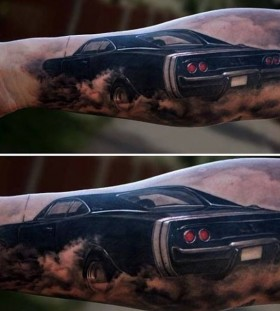 Double lovely car tattoo