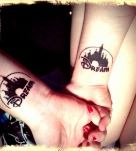 Dream black castle tattoo