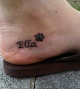 Ella pow dog tattoo