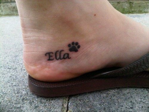 Ella pow dog tattoo