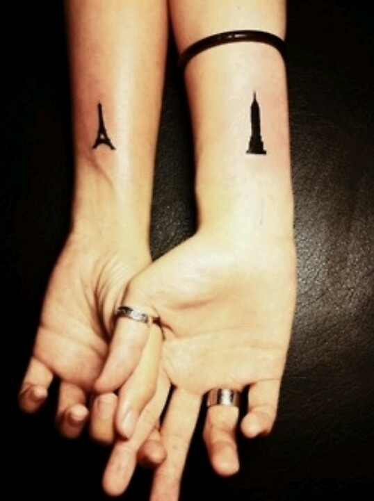 Favourties cities couple tattoo