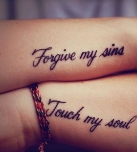Forgive and touch quote tattoo