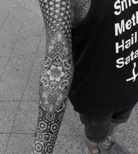 Full hand geometric style tattoo
