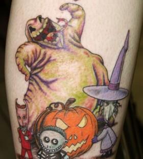 Funny animation halloween tattoo