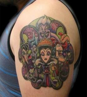 Funny shoulder disney tattoo