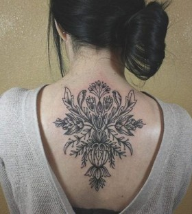 Geek black back tattoo