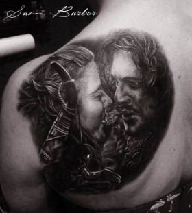 Girl and Jon Snow game of thrones tattoo