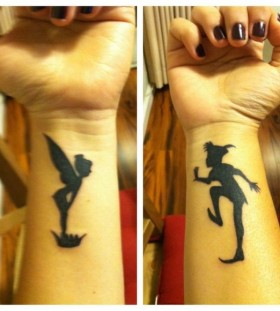 Gorgeous black disney tattoo