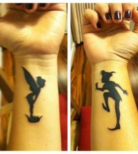 Gorgeous black disney tattoo