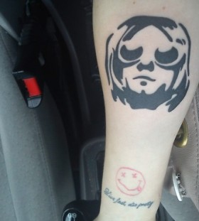 Gorgeous face nirvana tattoo