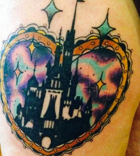 Gorgeous looking castle tattoo
