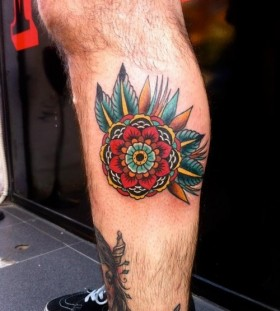 Gorgeous red American Traditional Tattoo