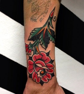 Gorgeous red tattoo by Austin Maples