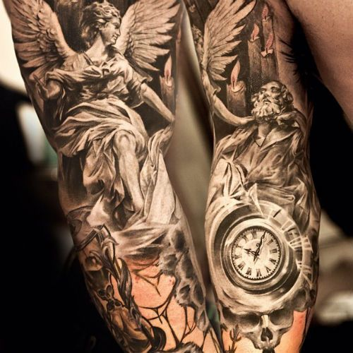 Gorgeous watch and men's arm tattoo