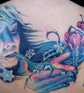 Gorgeous women's winter tattoo