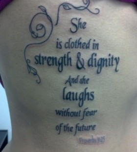 Great black quote tattoo