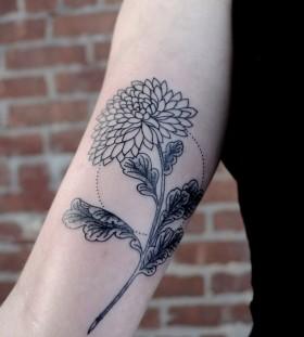 Great flower Victor J Webster tattoo