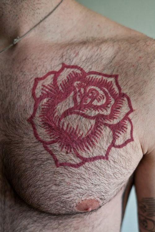 62da48a549c5d Great looking red rose tattoo - | TattooMagz › Tattoo Designs / Ink ...