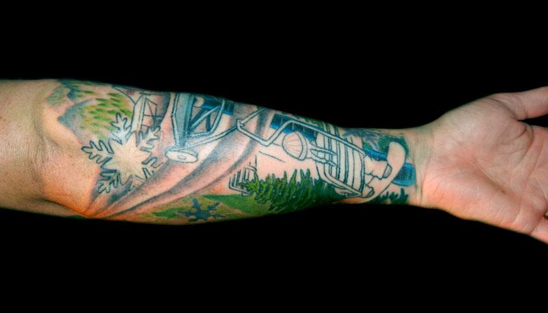 Green arm's winter tattoo