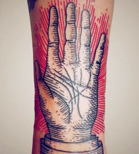 Hand's lovely tattoo by Lisa Orth