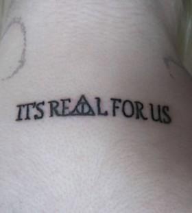 Harry Poter style accio tattoo