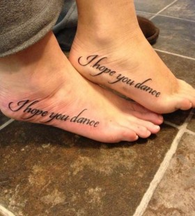 I hope you dance dancer tattoo