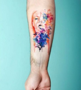 Incredible girl's tattoo by Candelaria Carballo