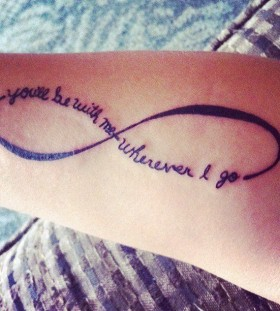 Infinity black quote tattoo