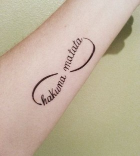 Infinity style small tattoo
