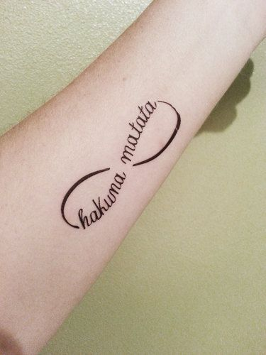 Infinity style small tattoo