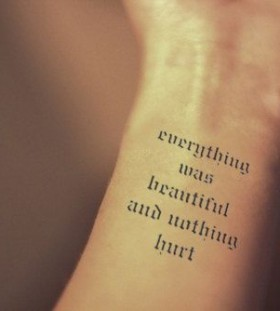 Inknart black quote tattoo