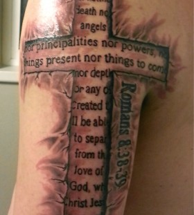 Inspiring quotes cross tattoo